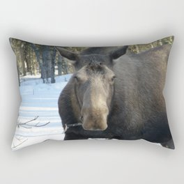 Moose Munching Poplar Lunch Rectangular Pillow
