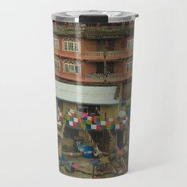 Kathmandu City Roof Tops - Architecture 05 Travel Mug