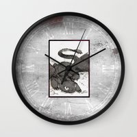 toothless Wall Clocks featuring Toothless by SpaceMonolith