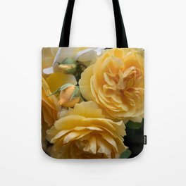 Graham Thomas old fashioned rose Tote Bag
