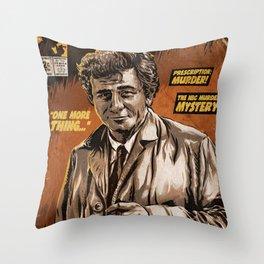 Columbo - TV Show Comic Poster Throw Pillow