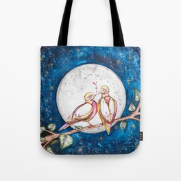 Doves and the Full Moon Tote Bag