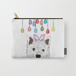 Happy Easter - Westie Bunny Carry-All Pouch