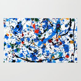 Abstract #23 - Frenzy in Blue Rug