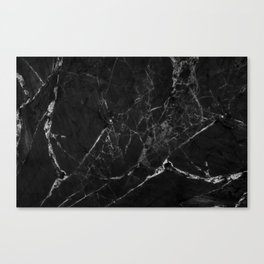 Black Marble Print II Canvas Print