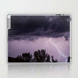 Lightning storm in the mountains Laptop & iPad Skin