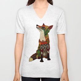 fox love Unisex V-Neck