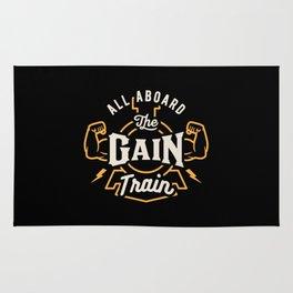 All Aboard The Gain Train Rug