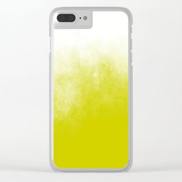 Chartreuse & White Ombre Clear iPhone Case