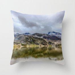 Lakes of Covadonga Throw Pillow