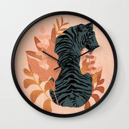Blooming Tiger Wall Clock