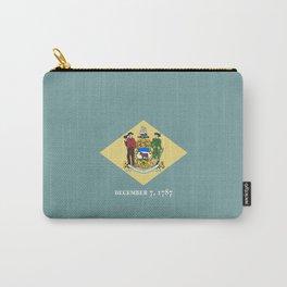 flag delaware,america,usa,Blue Hen,mid-altlantic, Delawarean,Small Wonder,Wilmington,Dover,Newak Carry-All Pouch