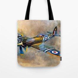 Spitfire Dawn Flight Tote Bag