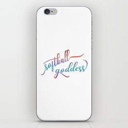 Softball Goddess Summer Ombre iPhone Skin