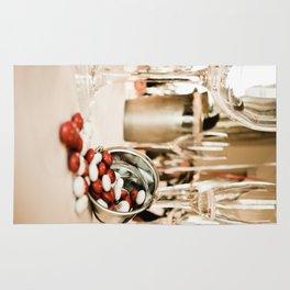 CELEBRATE (STILL LIFE - Wine Glasses - M&M's - Zinc Bucket) Rug