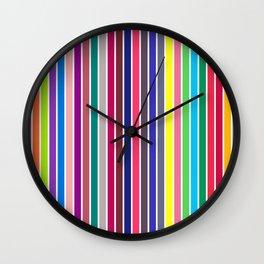 COLOUR ALPHABET on WHITE Wall Clock