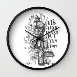 a humble residence Wall Clock