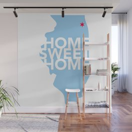 Chicago Home Sweet Home Wall Mural