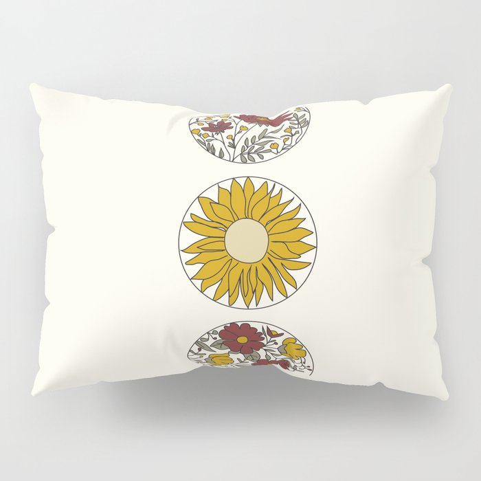 Floral Phases of the Moon Pillow Sham