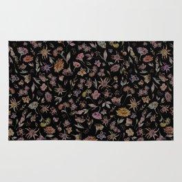 Botanical Study- Dark Colorway Rug