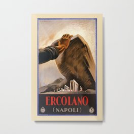 Ercolano Naples Italian art deco ad Metal Print