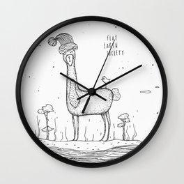 Flat Earth Society - Banana Llama Wall Clock