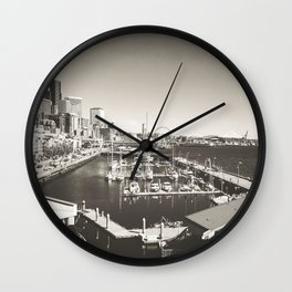 Gray Seattle Wall Clock