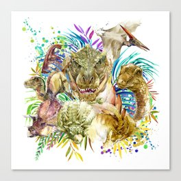 Dinosaur Collage Canvas Print