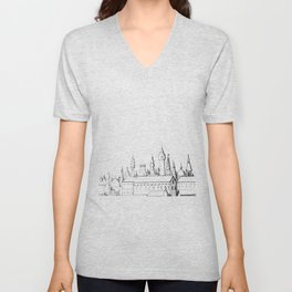 fabulous city . art . black and white Unisex V-Neck
