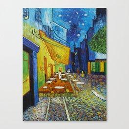 """Vincent van Gogh """"Cafe Terrace, Place du Forum, Arles"""" Canvas Print"""