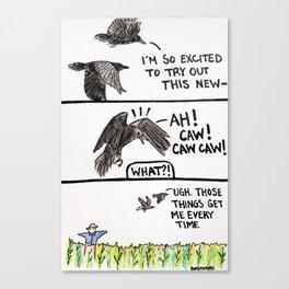 Bird no. 71: Scaredy crow Canvas Print