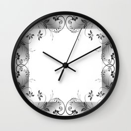Abstract floral frame Wall Clock
