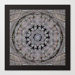 Gothic Romanesque Stone Architecture Mandala Pattern Canvas Print