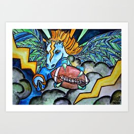 Seaco the Broncohawk: Everyone Wins! Art Print
