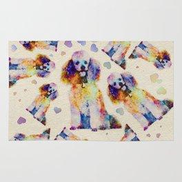 Color splash poodle dog on canvas Rug