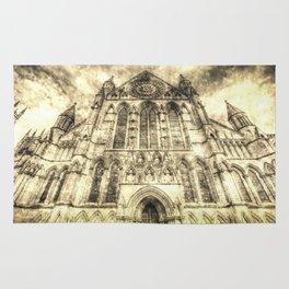 York Minster Cathedral Vintage Rug
