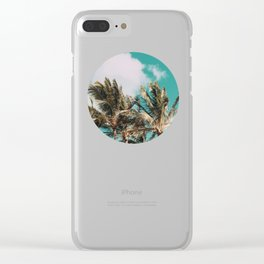 Palm Trees and Island Breeze Clear iPhone Case