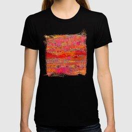 Firewalk Abstract Art Collage T-shirt