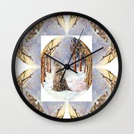 Wolf Oval Pattern Wall Clock