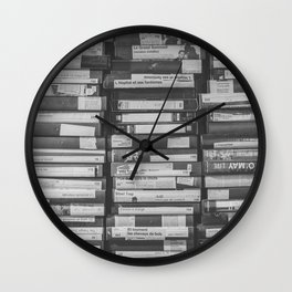 VHS Retro (Black and White) Wall Clock