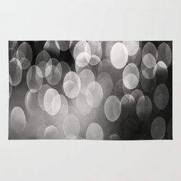 Bokeh Light In Black And White #decor #society6 Rug