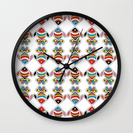 color fish Wall Clock