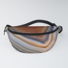 Layered agate geode 3163 Fanny Pack