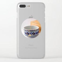 Kintsuqi Bowl #1 Clear iPhone Case