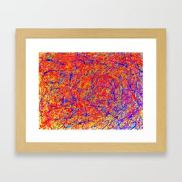 Abstract Jackson Pollock Painting Titled: Stimulates 5 Framed Art Print