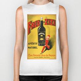 Vintage poster - Fred-Zizi Aperitif Biker Tank
