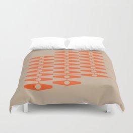 abstract eyes pattern orange tan Duvet Cover