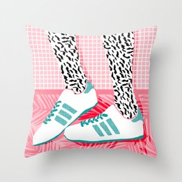 Aiight - sports fashion retro throwback style 1980s neon palm springs socal country club hipster Throw Pillow
