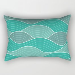 Waves (blue) Rectangular Pillow