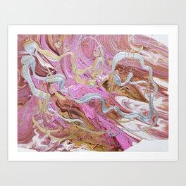 Silver tresses Art Print